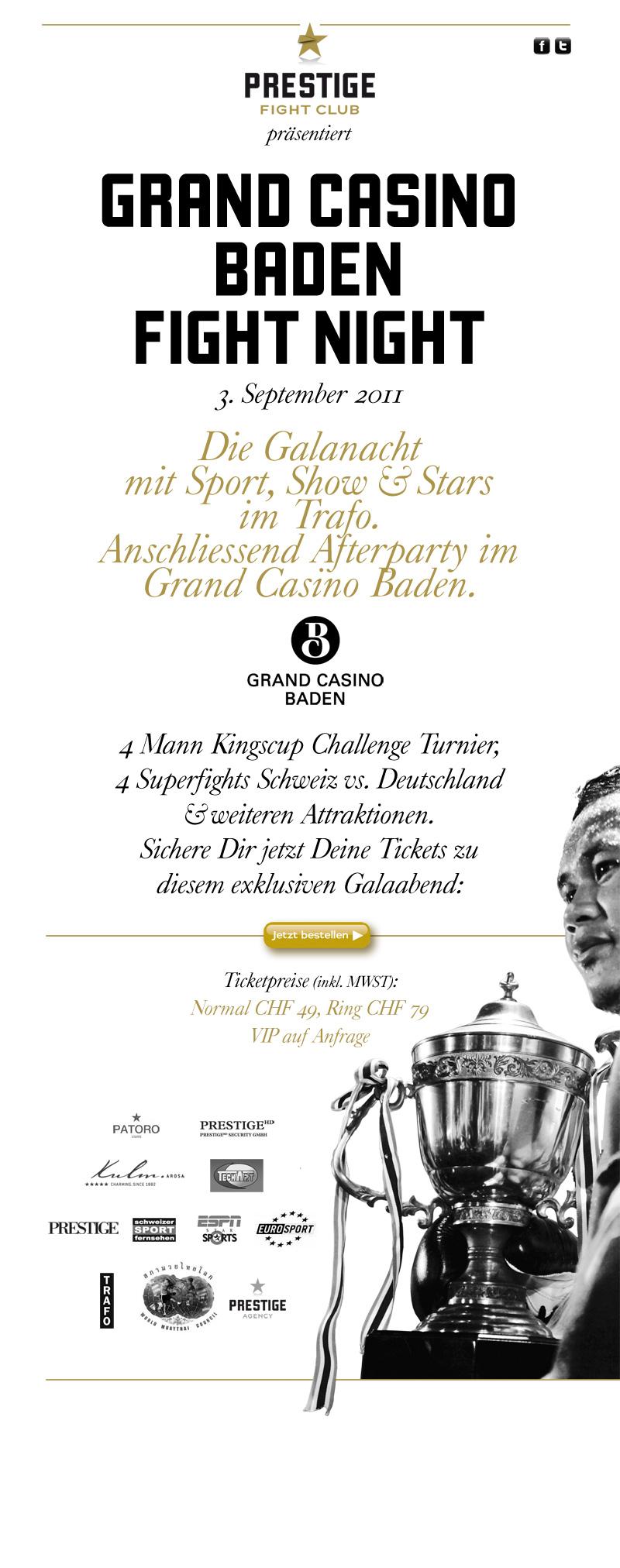 grand casino baden prestige fight club