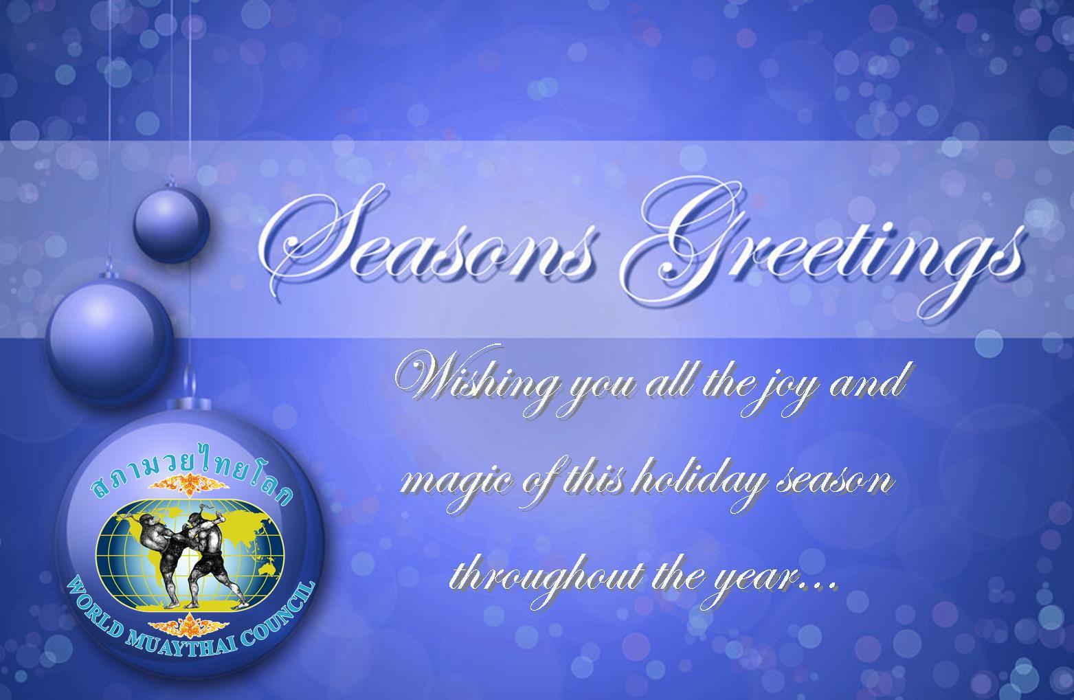 World Muaythai Council 2013 Seasons Greetings Wmc