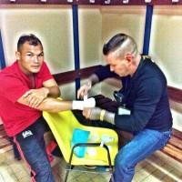 Berneung locker room pre fight