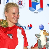 Valentina winning gold at the World Championships