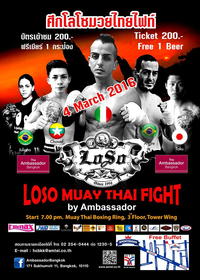 LOSO MUAY THAI FIGHT Pamplet