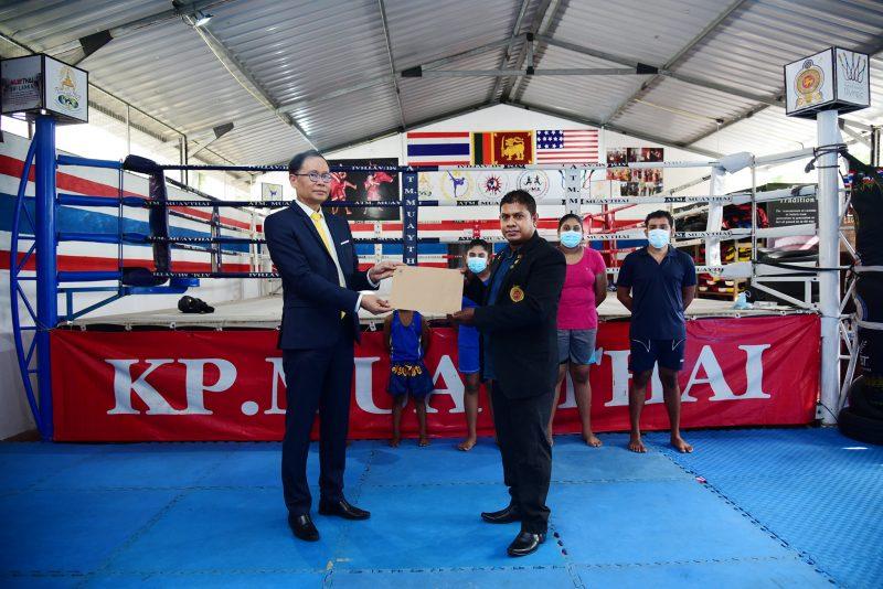 The Thai Ministry of Sri Lanka Supports Muaythai